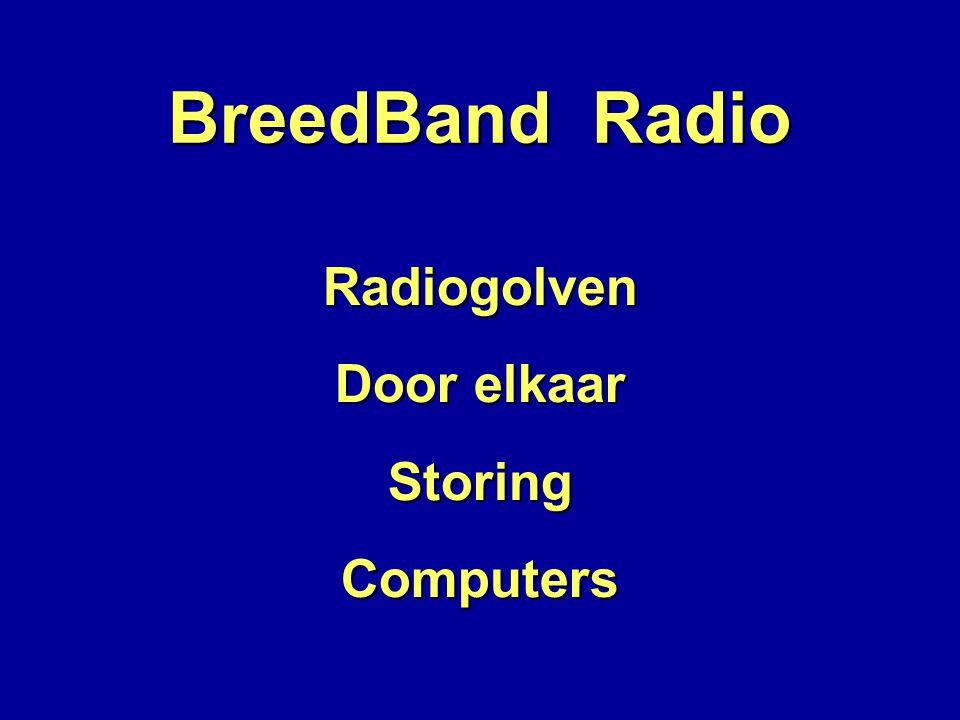 BreedBand Radio Radiogolven Door elkaar Storing Computers