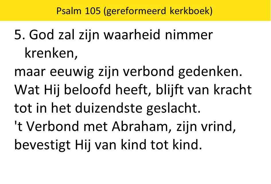 Psalm 105 (gereformeerd kerkboek)