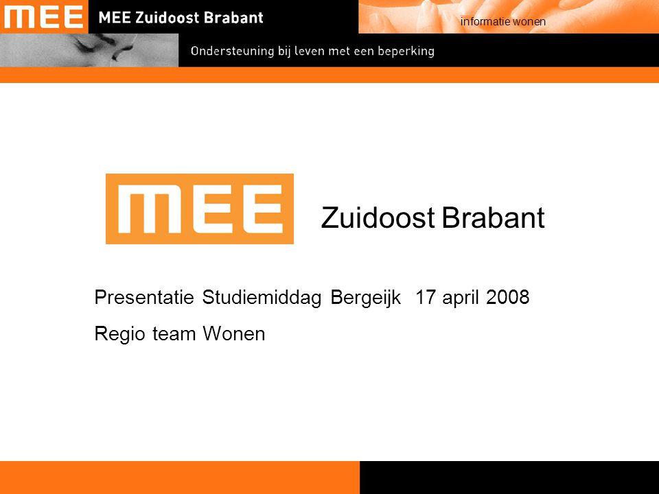 Presentatie Studiemiddag Bergeijk 17 april 2008 Regio team Wonen