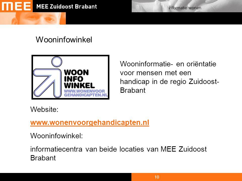 7-4-2017 Wooninfowinkel. Wooninformatie- en oriëntatie voor mensen met een handicap in de regio Zuidoost-Brabant.