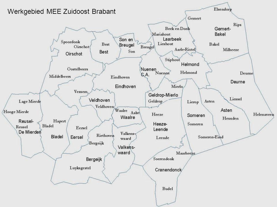 Werkgebied MEE Zuidoost Brabant
