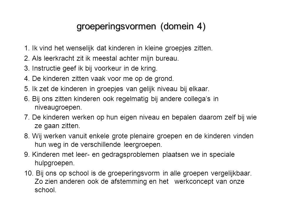 groeperingsvormen (domein 4)
