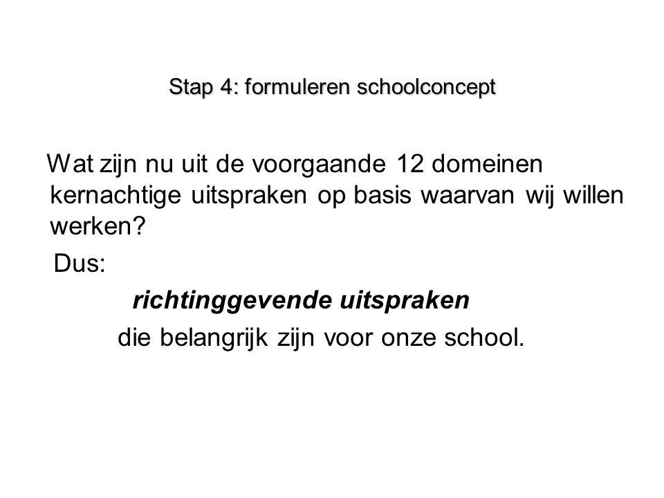 Stap 4: formuleren schoolconcept