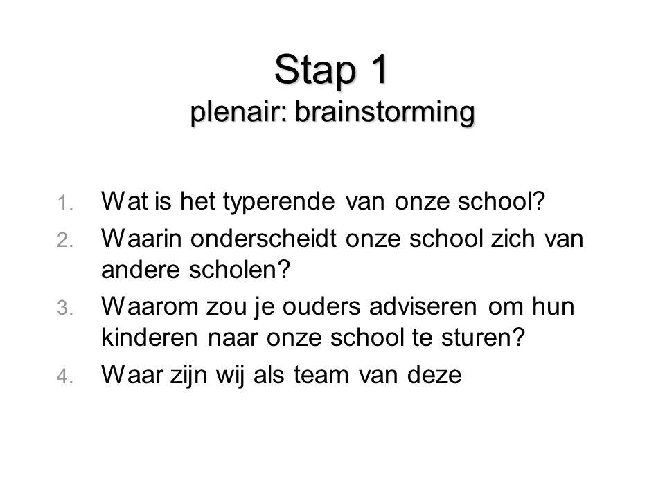 Stap 1 plenair: brainstorming