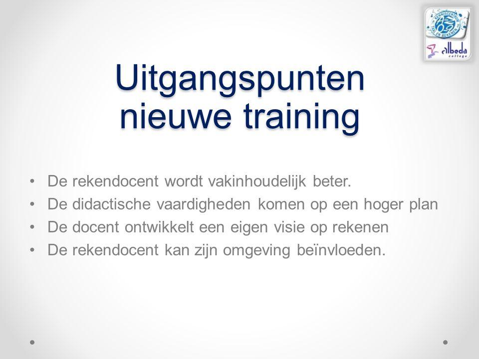 Uitgangspunten nieuwe training