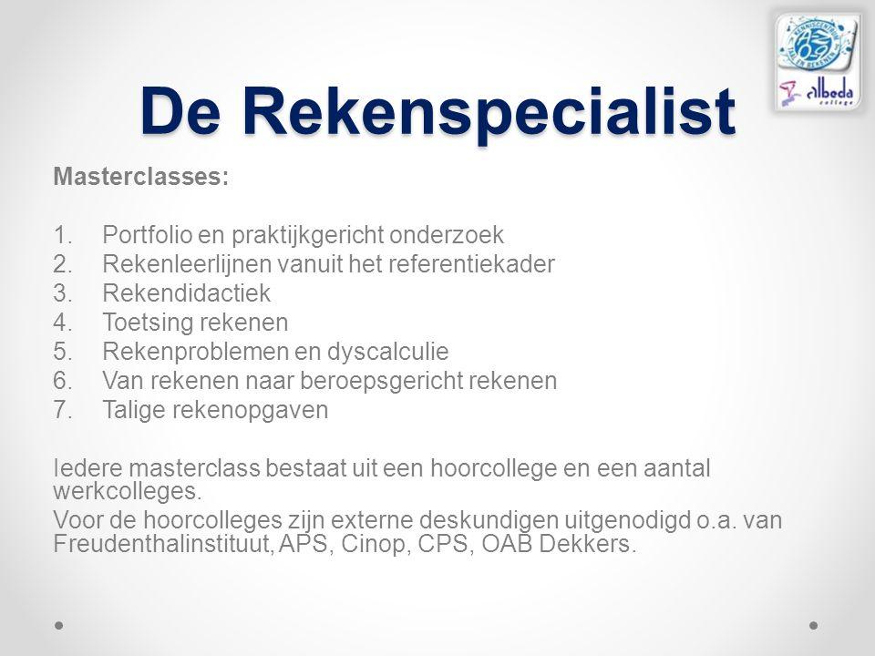 De Rekenspecialist Masterclasses: