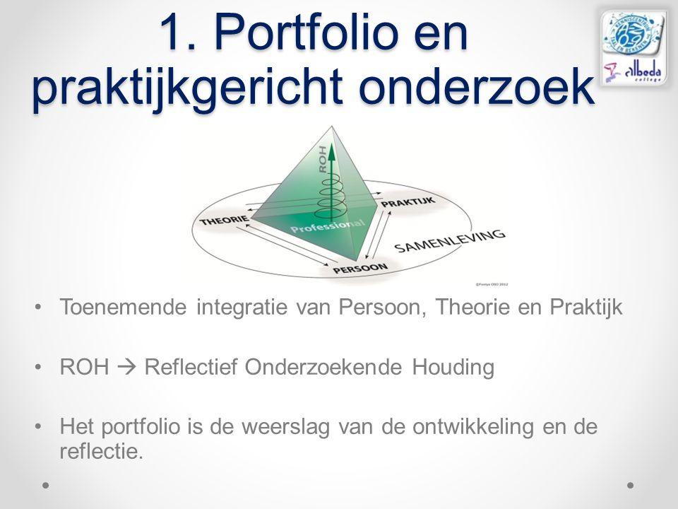 1. Portfolio en praktijkgericht onderzoek