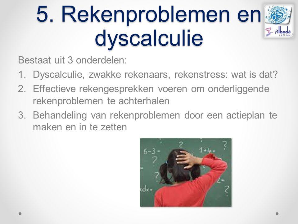 5. Rekenproblemen en dyscalculie