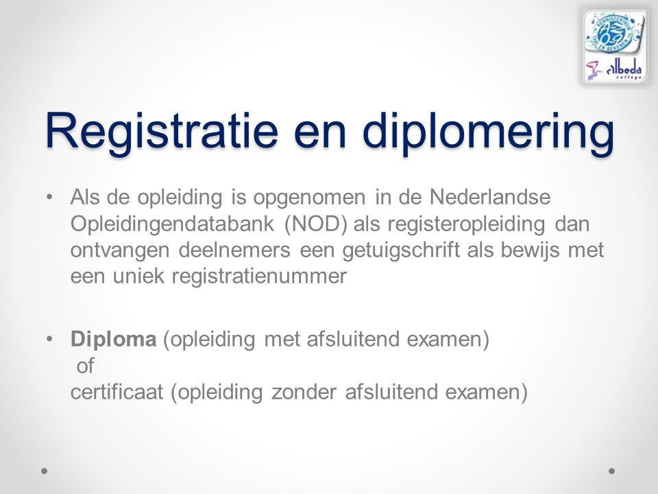 Registratie en diplomering