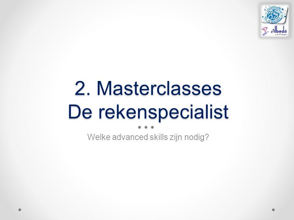 2. Masterclasses De rekenspecialist
