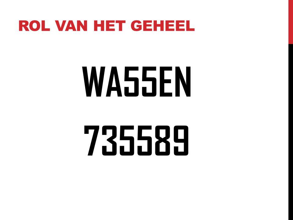 Rol van het geheel WA55EN 735589