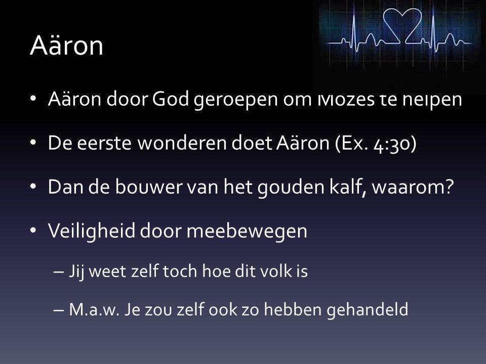 Aäron Aäron door God geroepen om Mozes te helpen