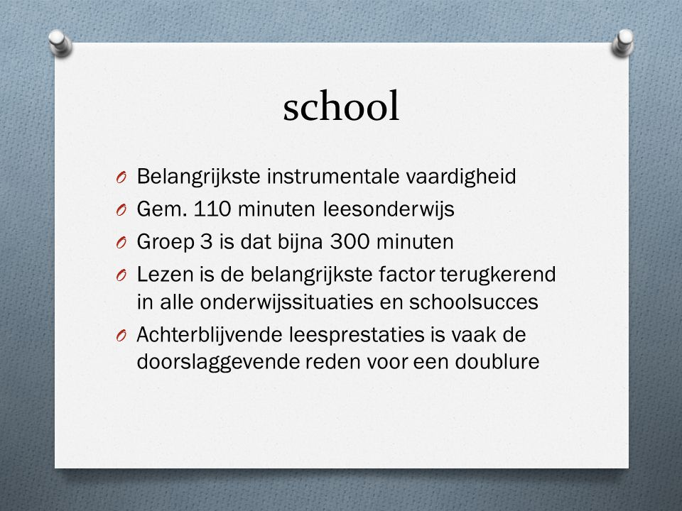 school Belangrijkste instrumentale vaardigheid