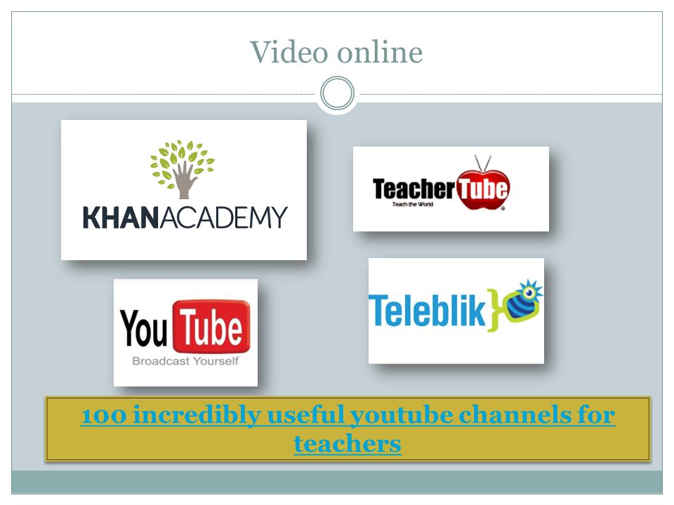 100 incredibly useful youtube channels for teachers
