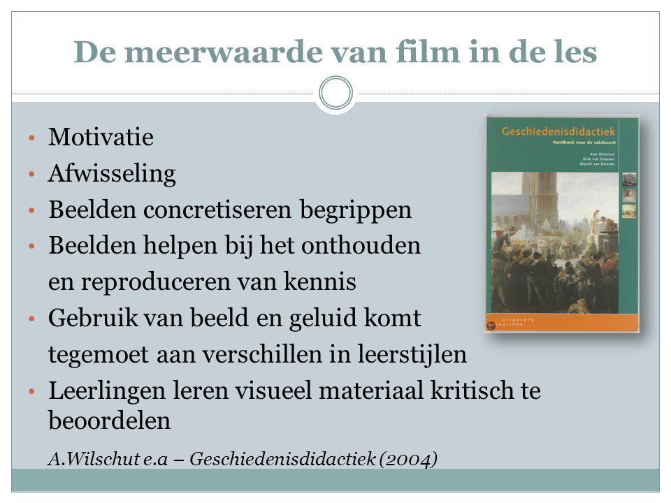 De meerwaarde van film in de les