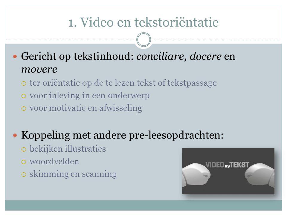 1. Video en tekstoriëntatie