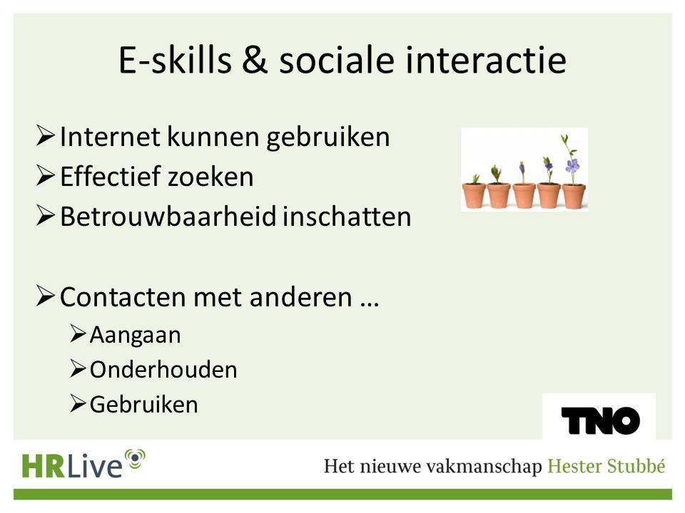 E-skills & sociale interactie