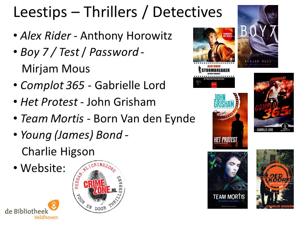 Leestips – Thrillers / Detectives