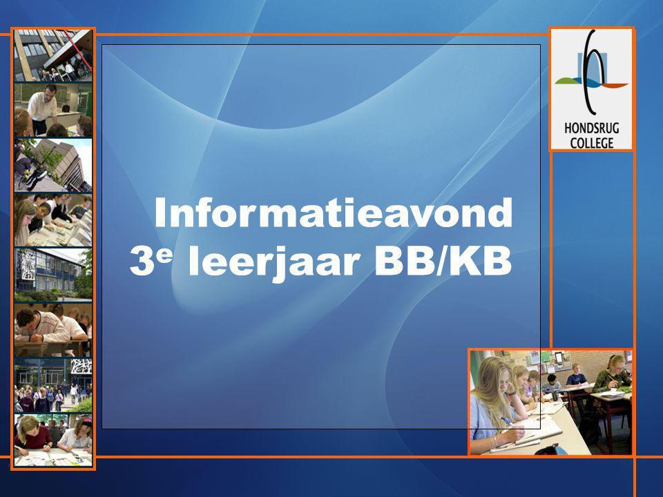 Informatieavond 3e leerjaar BB/KB