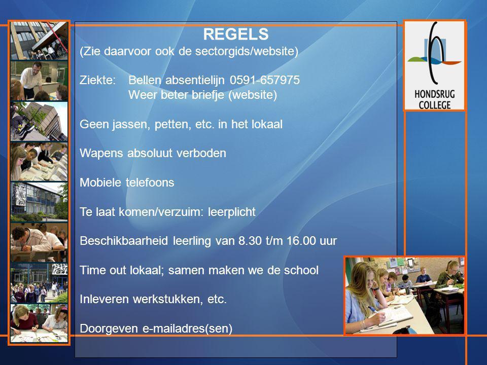 REGELS (Zie daarvoor ook de sectorgids/website)