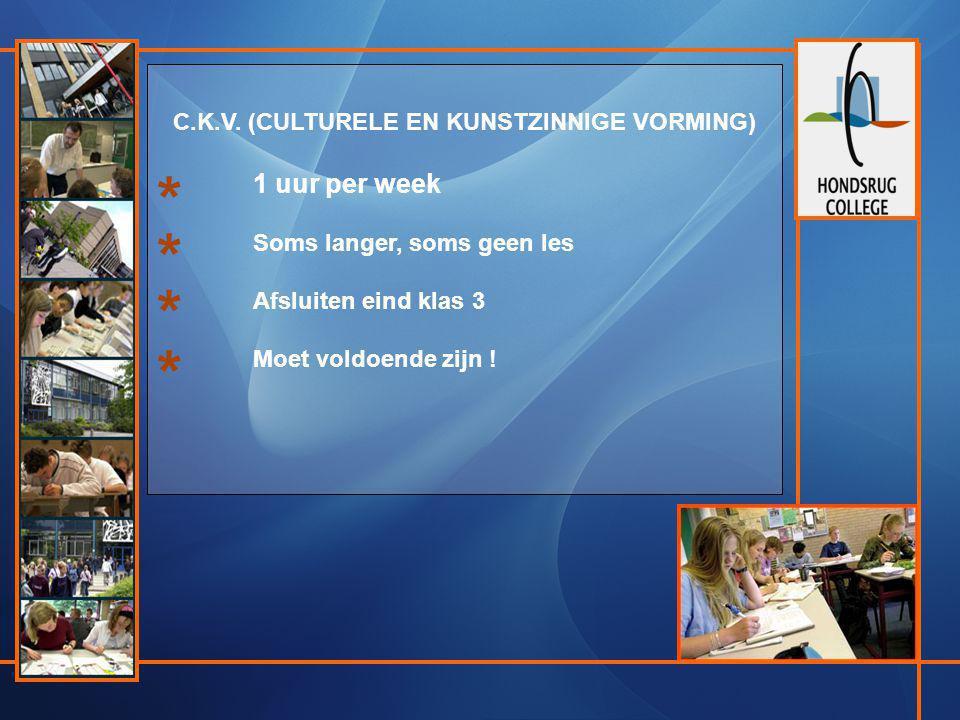 C.K.V. (CULTURELE EN KUNSTZINNIGE VORMING)