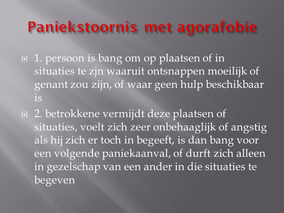 Paniekstoornis met agorafobie