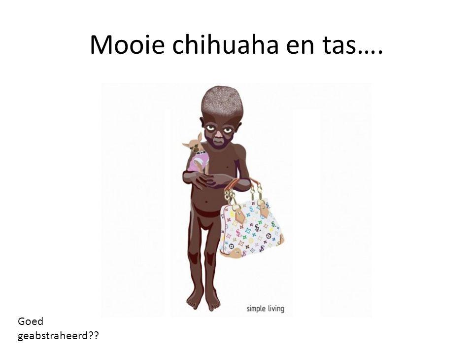 Mooie chihuaha en tas…. Goed geabstraheerd