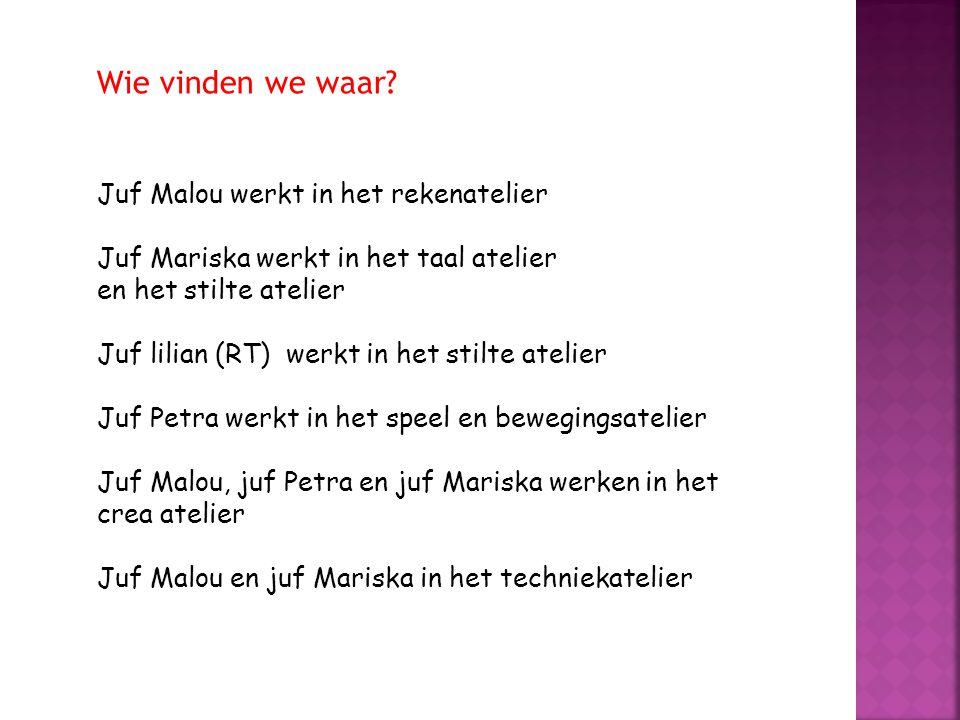 Wie vinden we waar Juf Malou werkt in het rekenatelier