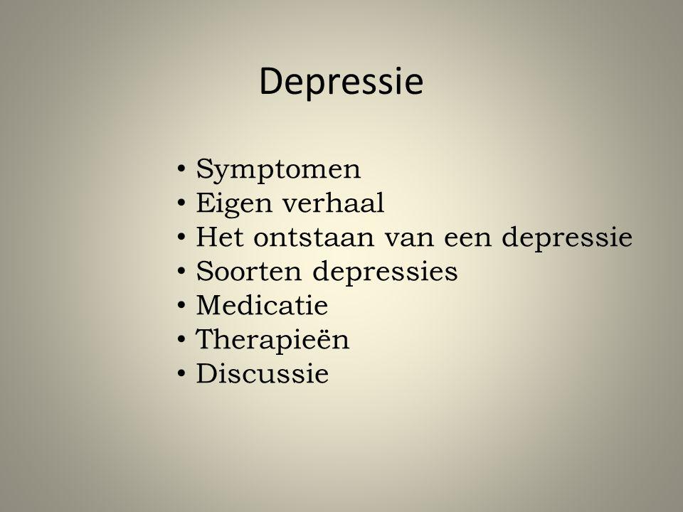 Depressie Symptomen Eigen verhaal Het ontstaan van een depressie