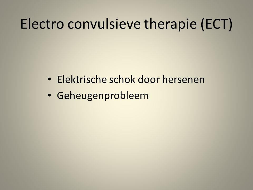 Electro convulsieve therapie (ECT)