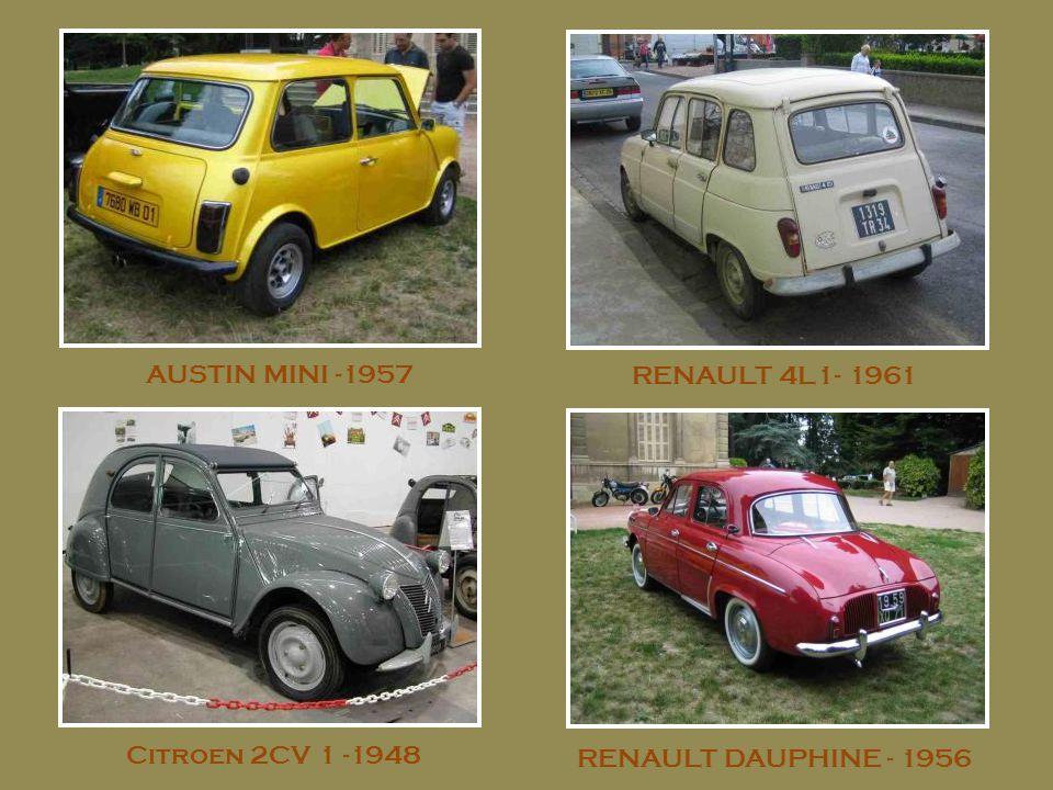 AUSTIN MINI -1957 RENAULT 4L1- 1961 Citroen 2CV 1 -1948 RENAULT DAUPHINE - 1956