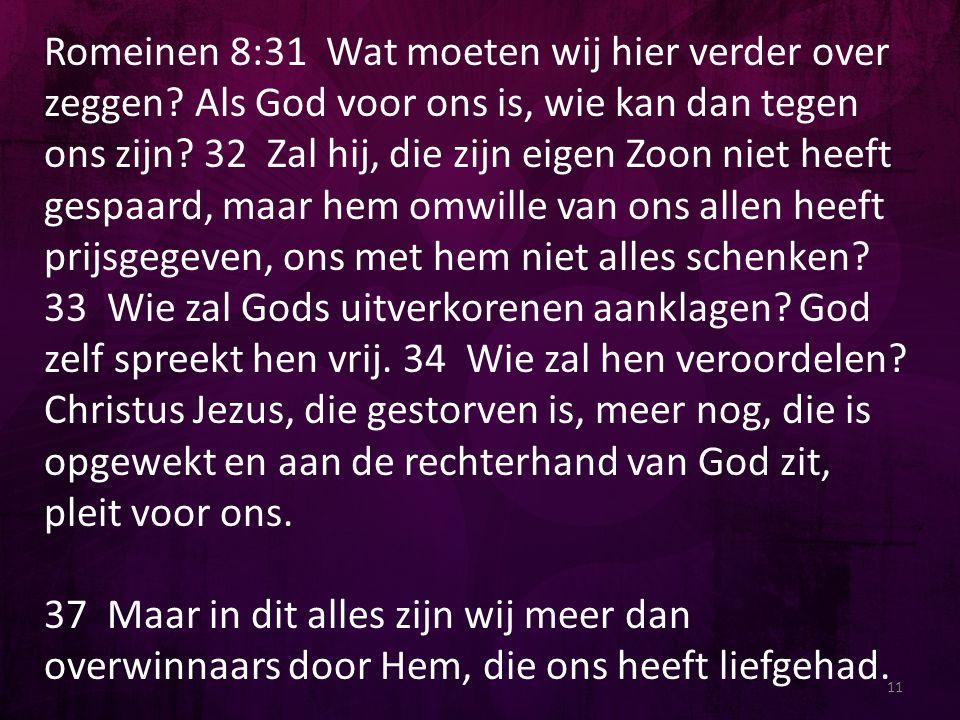 Romeinen 8:31 Wat moeten wij hier verder over zeggen
