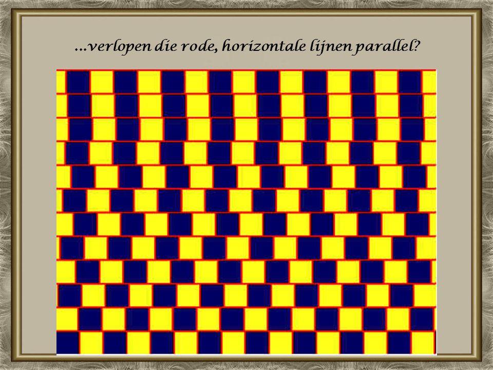 ...verlopen die rode, horizontale lijnen parallel