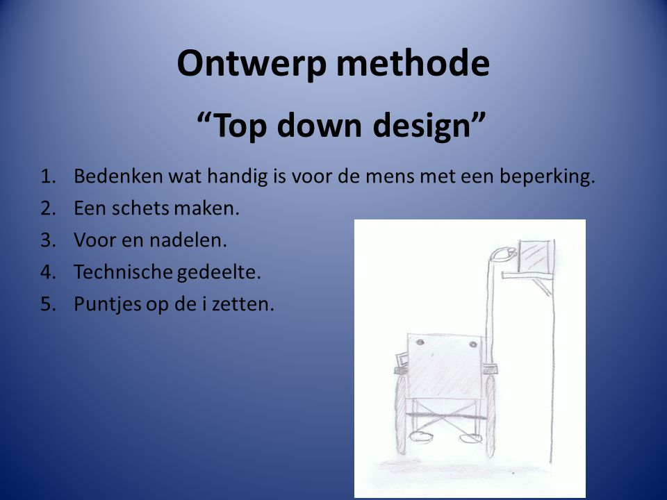Ontwerp methode Top down design