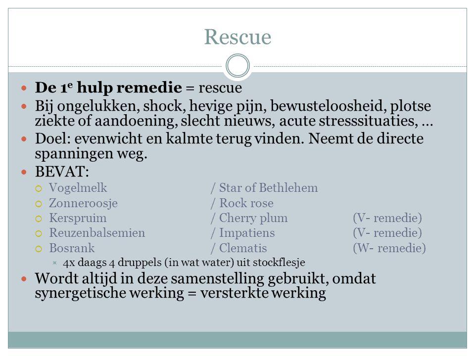 Rescue De 1e hulp remedie = rescue