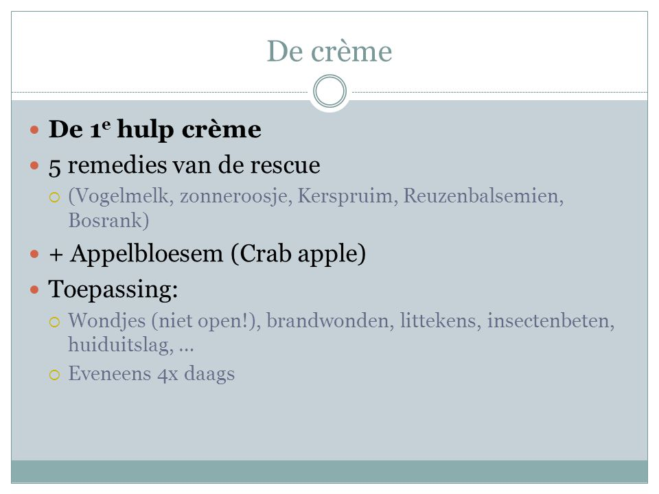 De crème De 1e hulp crème 5 remedies van de rescue