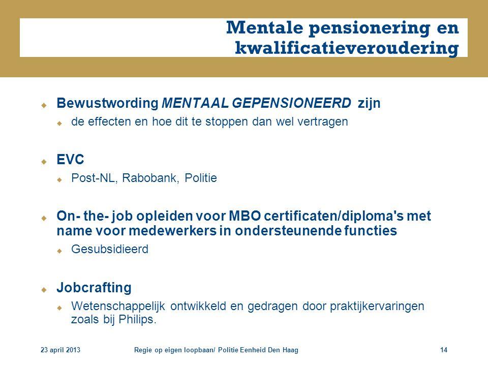 Mentale pensionering en kwalificatieveroudering