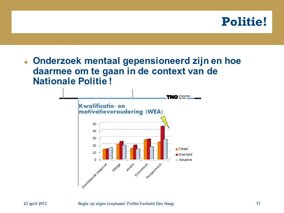 Politie! Onderzoek mentaal gepensioneerd zijn en hoe daarmee om te gaan in de context van de Nationale Politie !