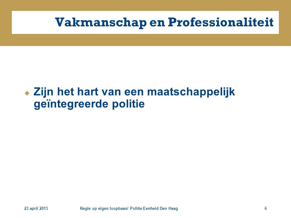 Vakmanschap en Professionaliteit