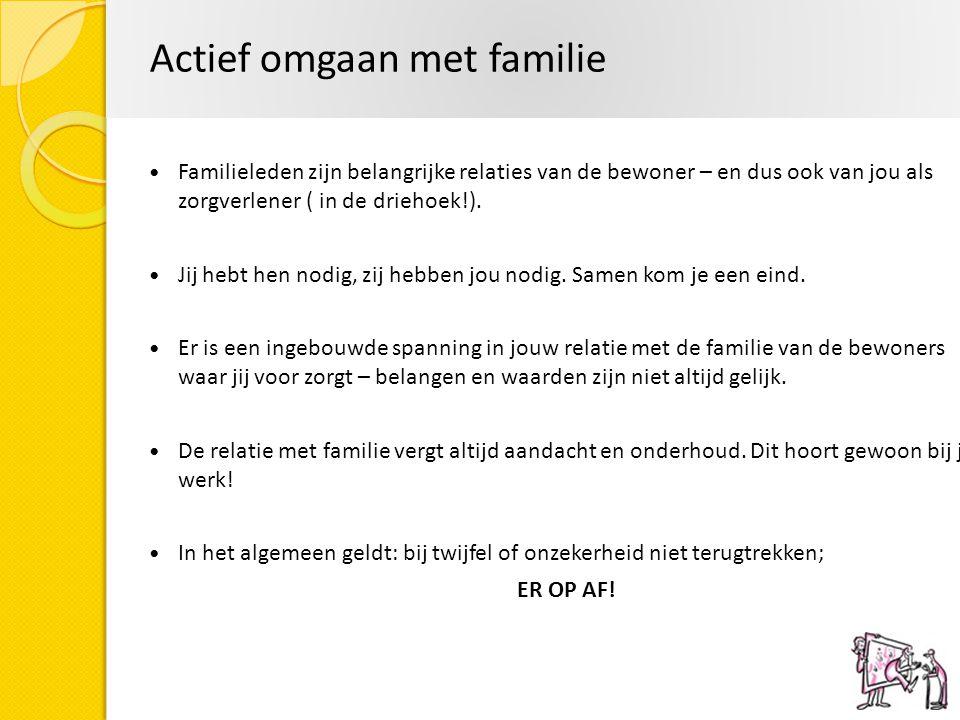 Actief omgaan met familie