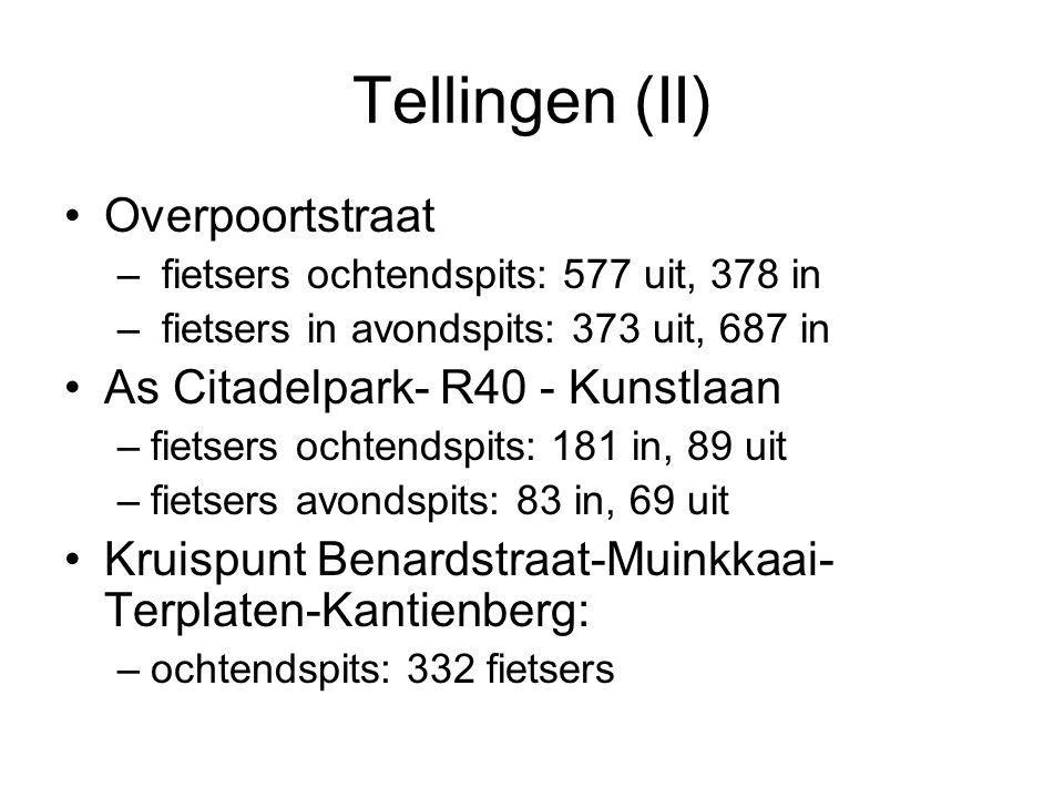 Tellingen (II) Overpoortstraat As Citadelpark- R40 - Kunstlaan