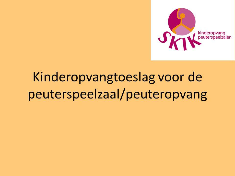 Kinderopvangtoeslag voor de peuterspeelzaal/peuteropvang