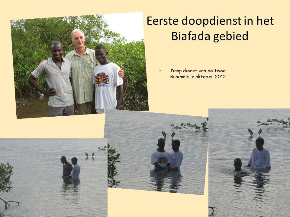 Eerste doopdienst in het Biafada gebied