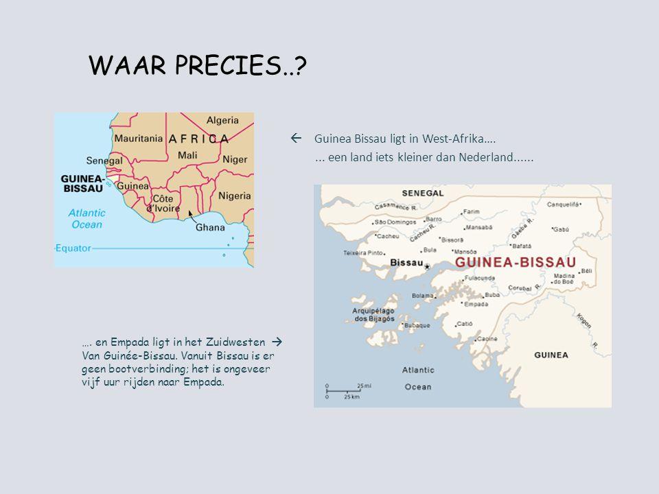 WAAR PRECIES.. Guinea Bissau ligt in West-Afrika….