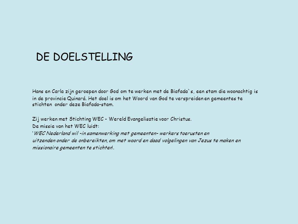 DE DOELSTELLING