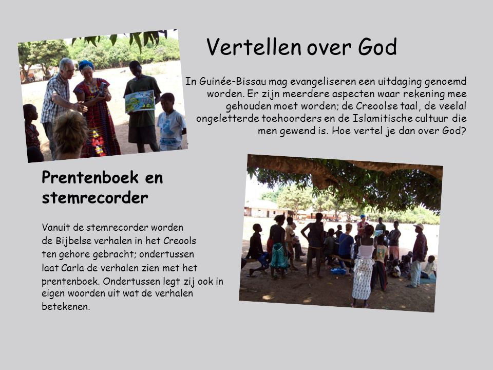 Vertellen over God Prentenboek en stemrecorder