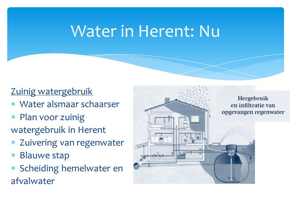 Water in Herent: Nu Zuinig watergebruik Water alsmaar schaarser