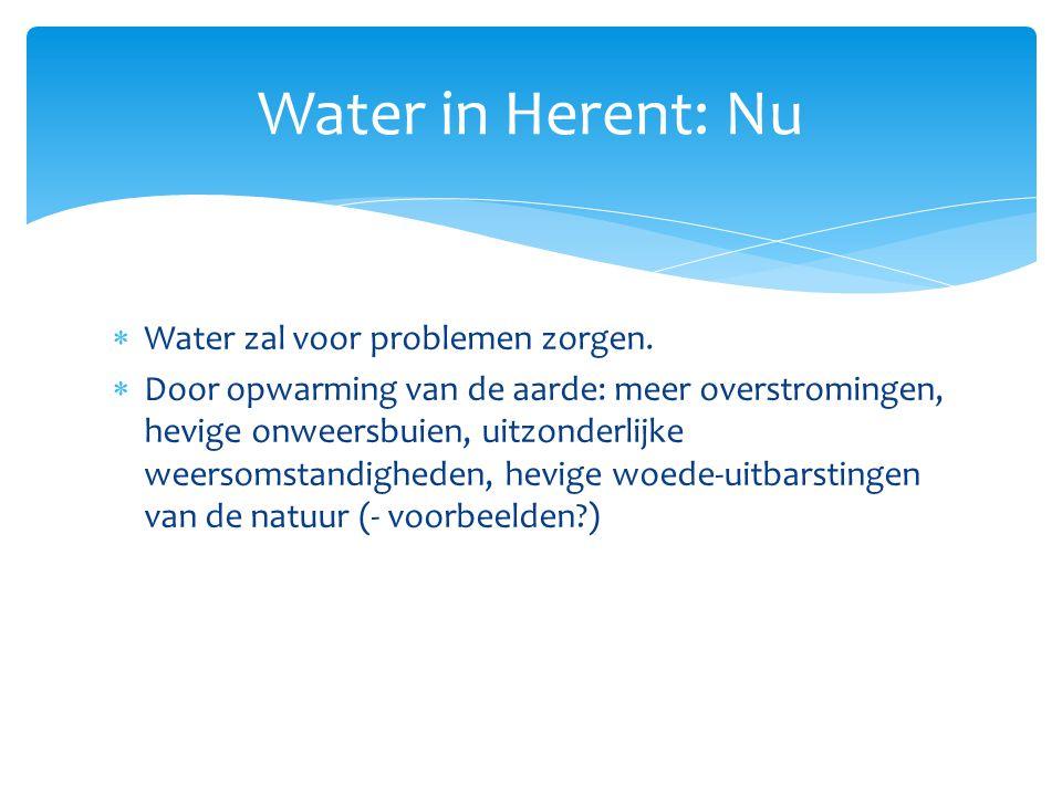 Water in Herent: Nu Water zal voor problemen zorgen.