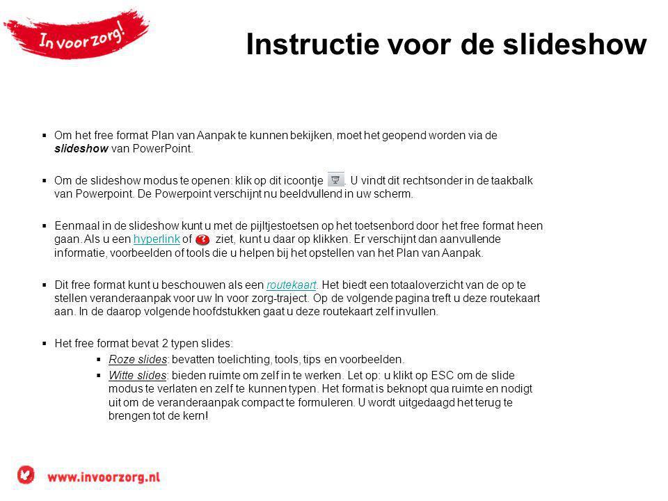Instructie voor de slideshow