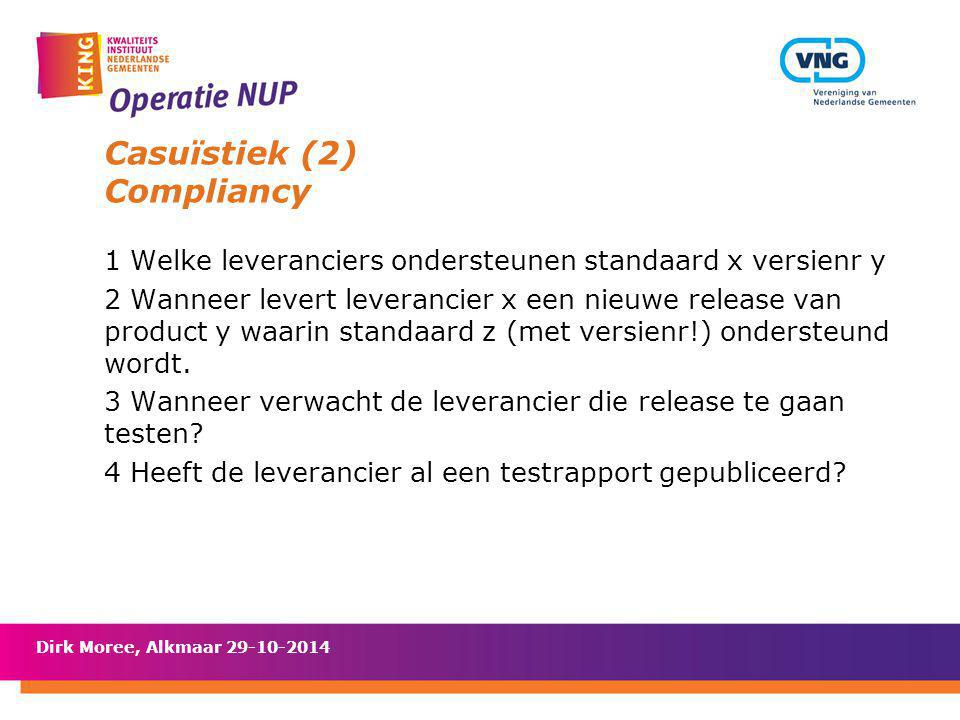 Casuïstiek (2) Compliancy